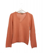 LORO PIANA(ロロピアーナ)の古着「カシミヤ100%ニット」|ピンク