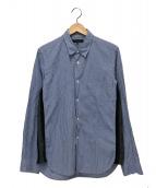 COMME des GARCONS HOMME(コムデギャルソンオム)の古着「再構築チェックシャツ」|ブルー
