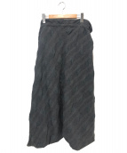 tricot COMME des GARCONS(トリコ コムデギャルソン)の古着「デザインスカート」|グレー