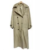 UNUSED(アンユーズド)の古着「オーバートレンチコート」|ベージュ