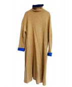 45R(フォーティファイブアール)の古着「カシミヤニットワンピース」|ブラウン