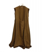 45R(フォーティファイブアール)の古着「ノースリーブダックワンピース」|ブラウン