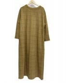 45R(フォーティファイブアール)の古着「ウールチェックワンピース」|オリーブ