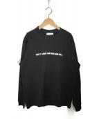 ()の古着「プリントカットソー」|ブラック
