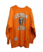 DESCENDANT(ディセンダント)の古着「クラスタークルーネックセータースウェット」|オレンジ