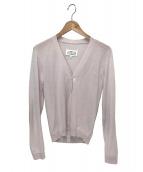 Maison Margiela(メゾンマルジェラ)の古着「エルボーパッチニットカーディガン」|ピンク