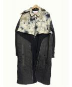 DIESEL × A-COLD-WALL(ディーゼル × アコールドウォール)の古着「切替デニムコート」|ベージュ×グレー