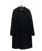 COMME des GARCONS COMME des GARCONS(コムデギャルソンコムデギャルソン)の古着「ポリ縮ロングコート」|ネイビー