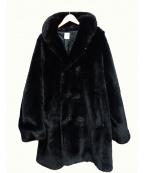 BEDWIN(ベドウィン)の古着「ファーコート」|ブラック