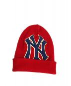 GUCCI×MLB NEW YORK Yankees(グッチ×MLBニューヨークヤンキース)の古着「コラボニットキャップ」|レッド