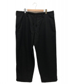 Yohji Yamamoto pour homme(ヨウジヤマモトプールオム)の古着「ワイドウールパンツ」|ブラック