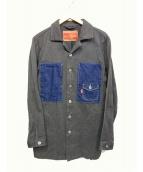 NATAL DESIGN(ネイタルデザイン)の古着「切替ジャケット」 グレー
