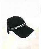 Karl Lagerfeld(カール ラガーフェルド)の古着「キャップ」|ブラック