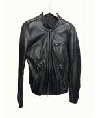 LITHIUM HOMME(リチウム オム)の古着「シングルライダースジャケット」|ブラック