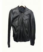 LITHIUM HOMME(リチウムオム・ファム)の古着「シングルライダースジャケット」|ブラック