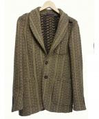 THE GIGI(ザ・ジジ)の古着「ニットテーラードジャケット」|ベージュ