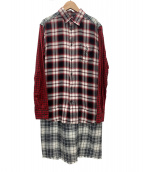 DIESEL(ディーゼル)の古着「ロングシャツワンピース」|レッド