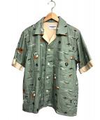WEIRDO(ウィアード)の古着「S/Sビーチシャツ」|グリーン