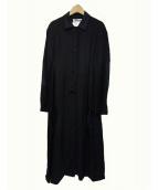 ACNE STUDIOS(アクネステュディオズ)の古着「JOYCE LI MIX コート」|ブラック