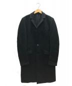 ATTACHMENT(アタッチメント)の古着「カシミヤ混平二重メルトンチェスターコート」|ブラック