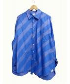 Name.(ネイム)の古着「スプレーペイントシャツ」|ブルー