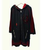 DOLCE & GABBANA(ドルチェアンドガッバーナ)の古着「ジップパーカー」|ブラック