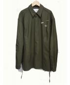 yoshio kubo(ヨシオクボ)の古着「フランネルウールシャツ」|カーキ
