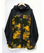 TAAKK(ターク)の古着「カモフラージュフーデットジャケット」|イエロー
