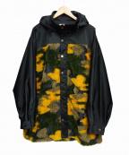 TAAKK(ターク)の古着「カモフラージュフーデットジャケット」 イエロー