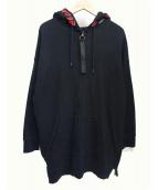 MARCELO BURLON(マルセロバーロン)の古着「ジップパーカー」|ブラック