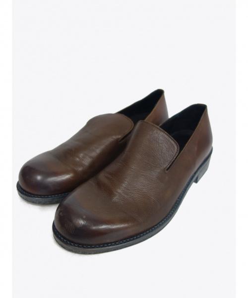 PADRONE(パドローネ)PADRONE (パドローネ) レザースリッポン ブラウン サイズ:42 日本製の古着・服飾アイテム
