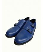 ARCOLLETTA PADRONE(アルコレッタパドローネ)の古着「ダブルモンクストラップシューズ」 ブルー
