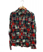 ()の古着「パッチワークシャツ」|レッド