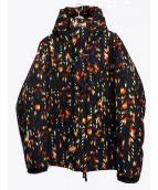 APPLEBUM(アップルバム)の古着「ベイビーロンテキスタイルフードジャケット」|ブラック