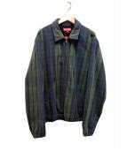 Supreme(シュプリーム)の古着「チェックジップジャケット」|グリーン