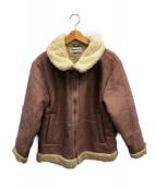 REPLAY(リプレイ)の古着「フェイクムートンジャケット」|ピンク
