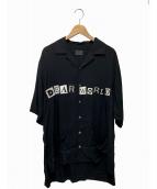 Danke schon(ダンケシェーン)の古着「DEAR WORLD SHIRTS」|ブラック