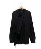 Ys(ワイズ)の古着「カシュクールシャツ」|ブラック