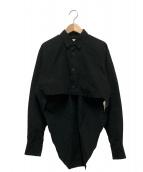 COMME des GARCONS SHIRT(コムデギャルソンシャツ)の古着「デザインシャツ」|ブラック