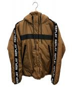 REPLAY(リプレイ)の古着「中綿ブルゾン」 ブラウン