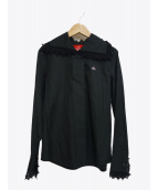 V.W. RED LABEL(ヴィヴィアンウエストウッドレッドレーベル)の古着「レースシャツ」 ブラック