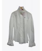 V.W. RED LABEL(ヴィヴィアンウエストウッドレッドレーベル)の古着「ギャザーオーブシャツ」 ホワイト
