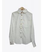 V.W. RED LABEL(ヴィヴィアンウエストウッドレッドレーベル)の古着「オーブ刺繍シャツ」 ホワイト