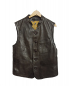 45r(フォーティファイブアール)の古着「ホースハイドベスト」|ブラウン