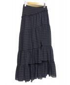 3.1 phillip lim(スリーワン・フィリップ・リム)の古着「ロングスカート」|ネイビー