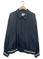 MONKEY TIME(モンキータイム)の古着「チェッカーリブジャケット」|ブラック