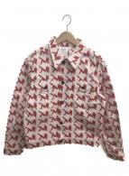 Calvin Klein Jeans(カルバンクラインジーンズ)の古着「アイコントラッカージャケット」|レッド