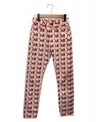 Calvin Klein Jeans(カルバンクラインジーンズ)の古着「アイコンナローレグジーンズ」|レッド