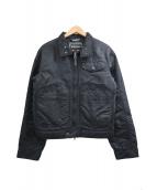 EMPORIO ARMANI(エンポリオアルマーニ)の古着「ジップアップジャケット」|ブラック