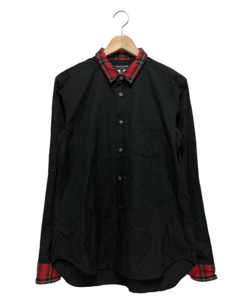COMME des GARCONS Homme Plus(コムデギャルソンオムプリュス)COMME des GARCONS Homme Plus (コムデギャルソンオムプリュス) 切替シャツ レッド×ブラック サイズ:XS PH-B007 2011AW Decadence デカダンス期の古着・服飾アイテム